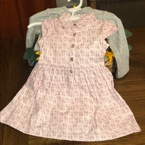 Carter's baby girl dress and sweater set